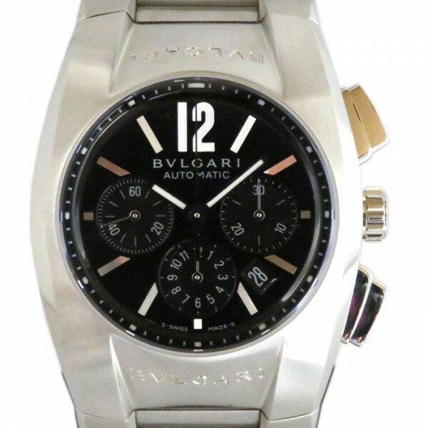 ブルガリ BVLGARI エルゴン クロノグラフ EG35BSSDCH ブラック文字盤 メンズ 腕時計 【新品】