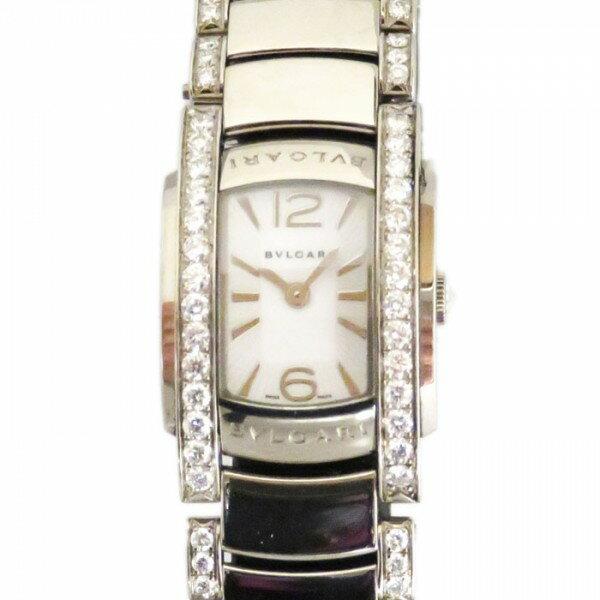 ブルガリ BVLGARI アショーマ D ベゼルダイヤ AAW26WGD1GD1 シルバー文字盤 レディース 腕時計 【新品】