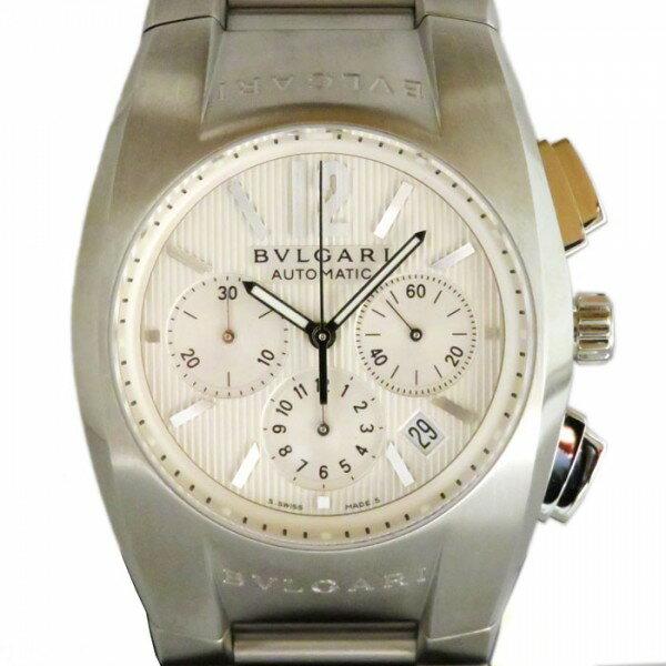 ブルガリ BVLGARI エルゴン クロノグラフ EG40C6SSDCH ホワイト文字盤 メンズ 腕時計 【新品】