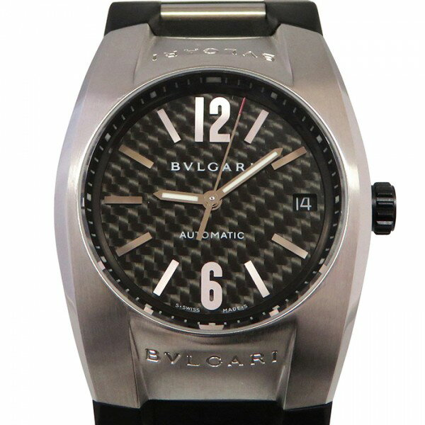 ブルガリ BVLGARI エルゴン EG35BSVD ブラック文字盤 メンズ 腕時計 【中古】