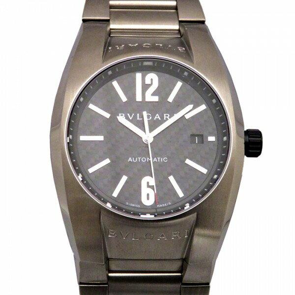 ブルガリ BVLGARI エルゴン EG40BSSD/N ブラック文字盤 メンズ 腕時計 【新品】