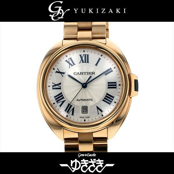 カルティエ CARTIER クレ ドゥ カルティエ WGCL0002 シルバー文字盤 メンズ 腕時計 【中古】