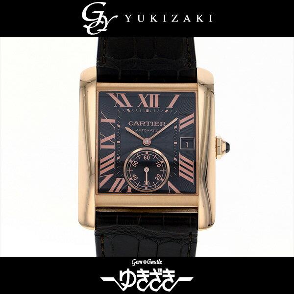 カルティエ CARTIER タンク MC W5330002 ブラウン文字盤 メンズ 腕時計 【中古】