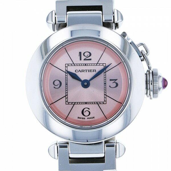 カルティエ CARTIER ミスパシャ W3140008 ピンク文字盤 レディース 腕時計 【中古】