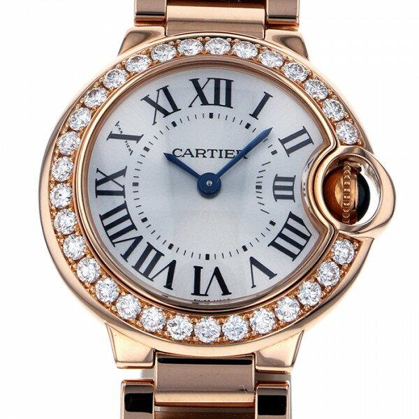カルティエ CARTIER バロンブルー WJBB0015 シルバー文字盤 レディース 腕時計 【中古】