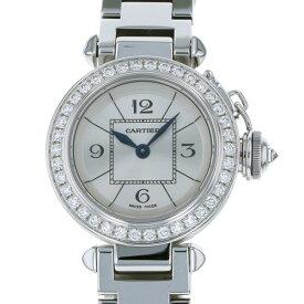 カルティエ CARTIER パシャ ミスパシャ WJ124012 シルバー文字盤 レディース 腕時計 【新品】