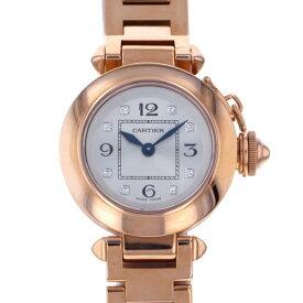 カルティエ CARTIER パシャ ミスパシャ WJ124016 シルバー文字盤 レディース 腕時計 【新品】