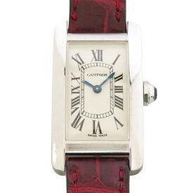 カルティエ CARTIER タンク アメリカンSM W2601956 シルバー文字盤 レディース 腕時計 【中古】