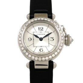 カルティエ CARTIER パシャ ミスパシャ ベゼルダイヤ WJ124027 シルバー文字盤 レディース 腕時計 【新品】