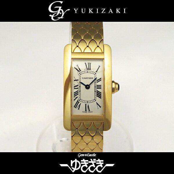 カルティエ CARTIER タンクアメリカン W2620031 ホワイト文字盤 レディース 腕時計 【新品】