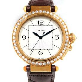 カルティエ CARTIER パシャ 42mm ベゼルダイヤ WJ120351 シルバー文字盤 メンズ 腕時計 【新品】