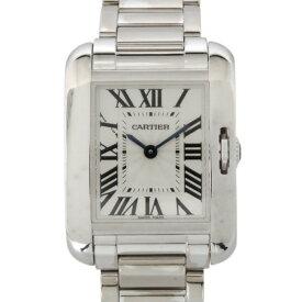 カルティエ CARTIER タンク アングレーズ W5310023 シルバー文字盤 レディース 腕時計 【中古】