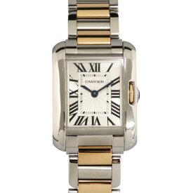 カルティエ CARTIER タンク アングレーズ SM W5310036 シルバー文字盤 レディース 腕時計 【新品】