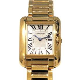 カルティエ CARTIER タンク アングレーズ SM W5310013 ホワイト文字盤 レディース 腕時計 【未使用】