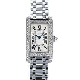 カルティエ CARTIER タンク アメリカン - ホワイト文字盤 レディース 腕時計 【中古】