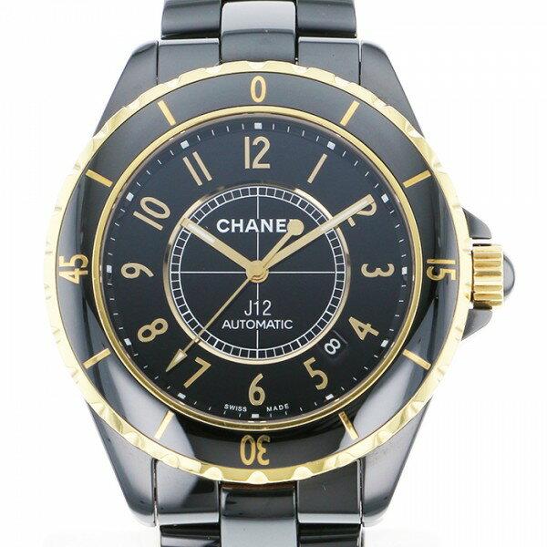 シャネル CHANEL J12 42 CALIBRE3125 H2129 ブラック文字盤 メンズ 腕時計 【中古】