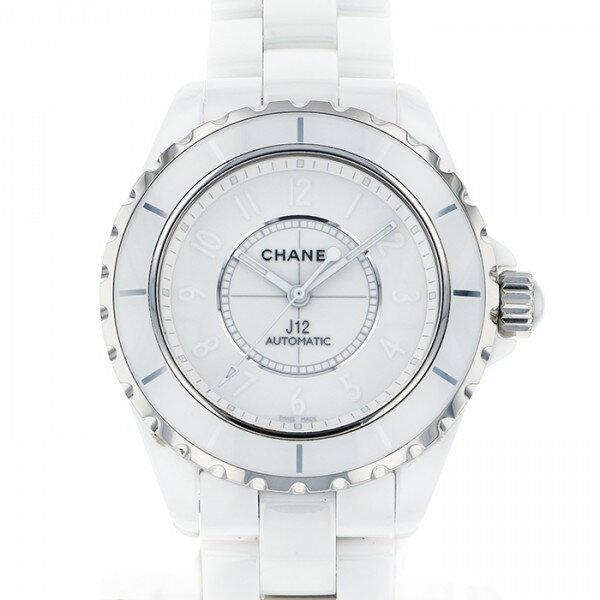 シャネル CHANEL J12 ホワイトファントム 世界限定200本 H3443 ホワイト文字盤 メンズ 腕時計 【中古】