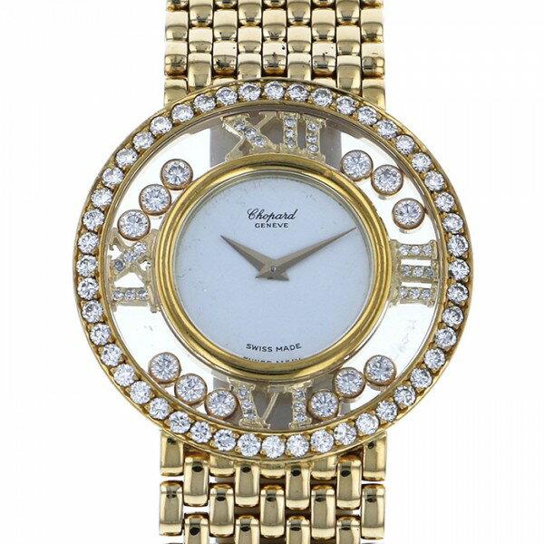 ショパール CHOPARD ハッピーダイヤモンド 21-2944 ホワイト文字盤 レディース 腕時計 【中古】