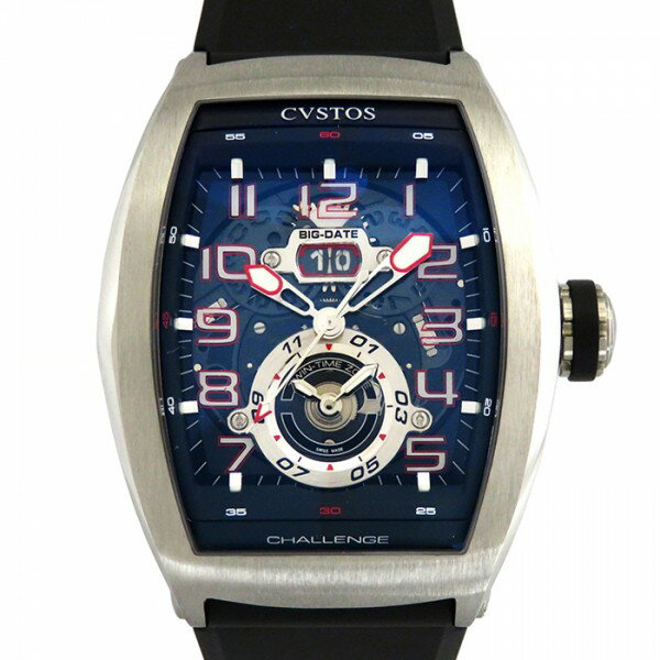 クストス CVSTOS チャレンジ ツインタイム CVT-TW-T2ST ブラック文字盤 メンズ 腕時計 【新品】