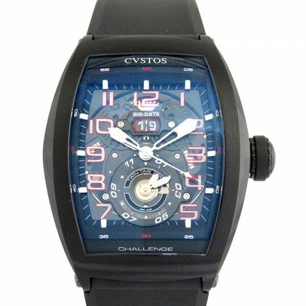 クストス CVSTOS チャレンジ ツインタイム CVT-TW-TBST ブラック文字盤 メンズ 腕時計 【新品】