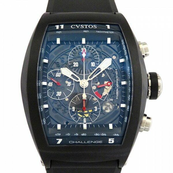 クストス CVSTOS チャレンジGTクロノ CVT-CHR-BST ブラック文字盤 メンズ 腕時計 【新品】
