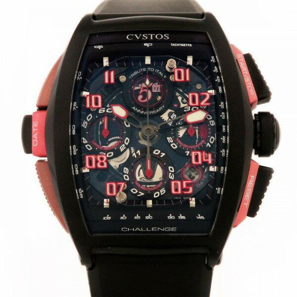 クストス CVSTOS チャレンジ フィフス アニバーサリー CVT-CHR-5TH ブラックスケルトン文字盤 メンズ 腕時計 【中古】
