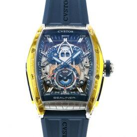 クストス CVSTOS その他 チャレンジ シーライナー GMT ST CVT-SEA-GMT-ST シルバー/ブルー文字盤 メンズ 腕時計 【新品】