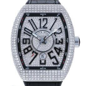 【ポイントバックセール 3%ポイント還元】 フランク・ミュラー FRANCK MULLER ヴァンガード ダイヤモンド V45SC DT D CD AC NR 全面ダイヤ文字盤 メンズ 腕時計 【中古】