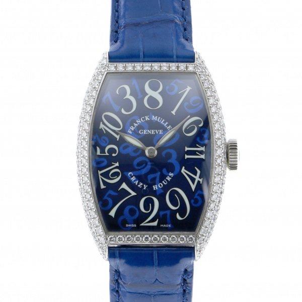 フランク・ミュラー FRANCK MULLER トノウ カーベックス クレイジー アワーズ 5850 CRAZY HOUR D ブルー文字盤 レディース 腕時計 【中古】