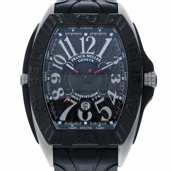 フランク・ミュラー FRANCK MULLER コンキスタドール グランプリ 9900SC DT GPG ブラック文字盤 メンズ 腕時計 【中古】