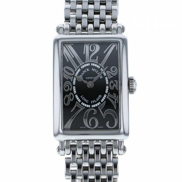 フランク・ミュラー FRANCK MULLER ロングアイランド レリーフ 902QZ REF ブラック文字盤 レディース 腕時計 【中古】