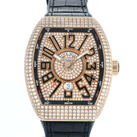 【ポイントバックセール 3%ポイント還元】 フランク・ミュラー FRANCK MULLER ヴァンガード V45SC DT D CD 5N NR 全面ダイヤ文字盤 メンズ 腕時計 【中古】