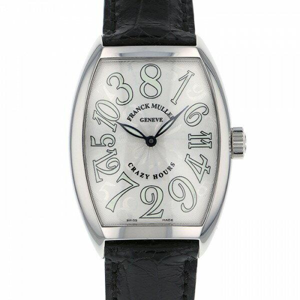 フランク・ミュラー FRANCK MULLER トノウカーベックス クレイジーアワーズ 7851CH シルバー文字盤 メンズ 腕時計 【中古】