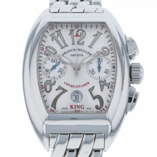 フランク・ミュラー FRANCK MULLER コンキスタドール キング クロノグラフ 8005CC KING シルバー文字盤 メンズ 腕時計 【中古】