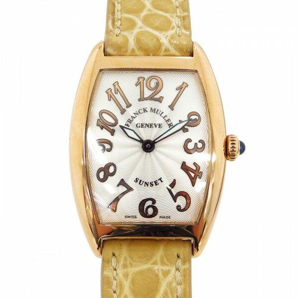 フランク・ミュラー FRANCK MULLER トノウカーベックス サンセット 1752QZ SUNSET シルバー文字盤 レディース 腕時計 【中古】
