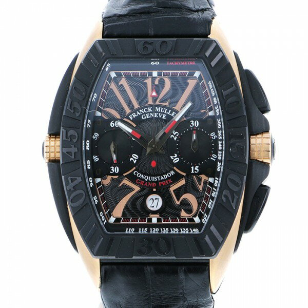 フランク・ミュラー FRANCK MULLER コンキスタドール グランプリ 8900CCGP ブラック文字盤 メンズ 腕時計 【中古】