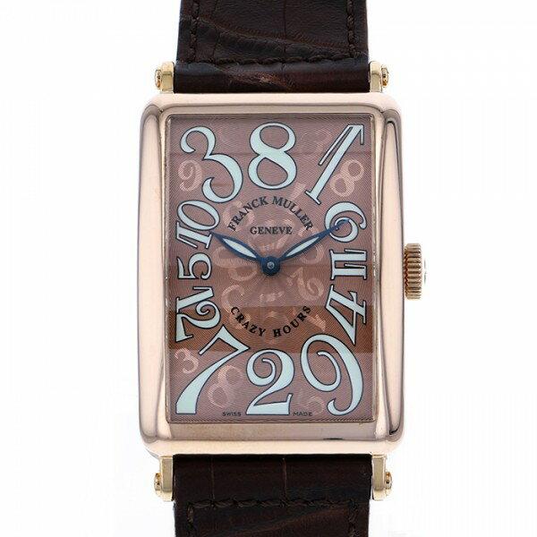 フランク・ミュラー FRANCK MULLER ロングアイランド クレイジーアワーズ 1200CH ブラウン文字盤 メンズ 腕時計 【中古】