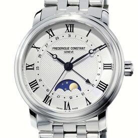 フレデリック・コンスタント FREDERIQUE CONSTANT クラシック ムーンフェイズ FC-330MC4P6B シルバー文字盤 メンズ 腕時計 【新品】