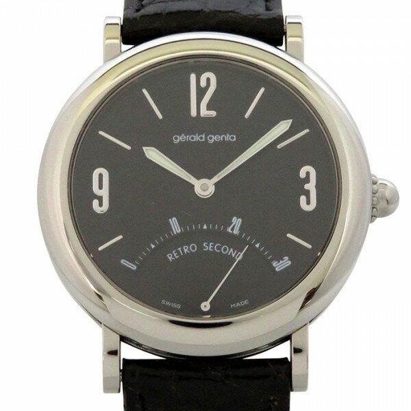 ジェラルド・ジェンタ GERALD GENTA レトロセコンド G3610 ブラック文字盤 メンズ 腕時計 【中古】