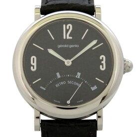 ジェラルド・ジェンタ GERALD GENTA レトロセコンド G3610 ブラック文字盤 中古 腕時計 メンズ