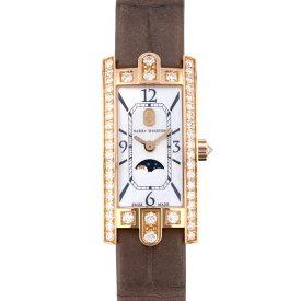 ハリー・ウィンストン HARRY WINSTON アヴェニュー C ミニ ムーンフェイズ AVCQMP16RR001 ホワイト文字盤 新品 腕時計 レディース