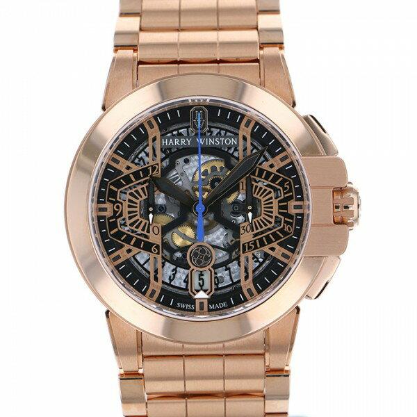 ハリー・ウィンストン HARRY WINSTON オーシャン クロノグラフ オートマティック OCEACH44RR002 スケルトン文字盤 メンズ 腕時計 【新品】