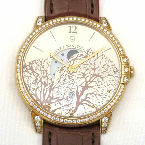ハリー・ウィンストン HARRY WINSTON ミッドナイト ムーンフェイズ MIDQMP39RR001 ロゼシャンパン文字盤 メンズ 腕時計 【新品】