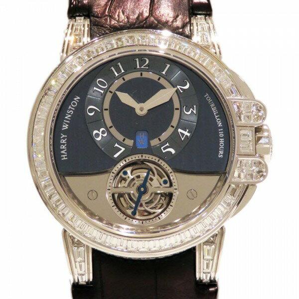 ハリー・ウィンストン HARRY WINSTON オーシャン トゥールビヨン 世界限定10本 400/MAT44WL グレー文字盤 メンズ 腕時計 【中古】