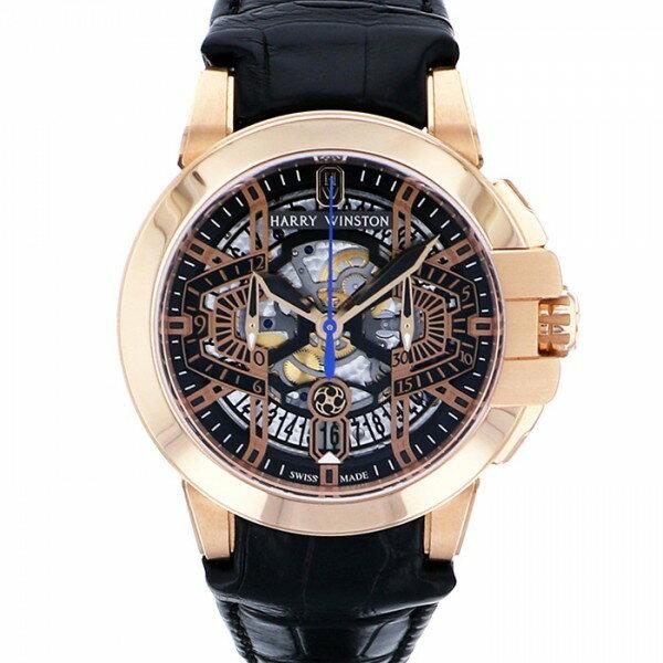 ハリー・ウィンストン HARRY WINSTON オーシャンクロノ OCEACH44RR001 ブラック文字盤 メンズ 腕時計 【新品】