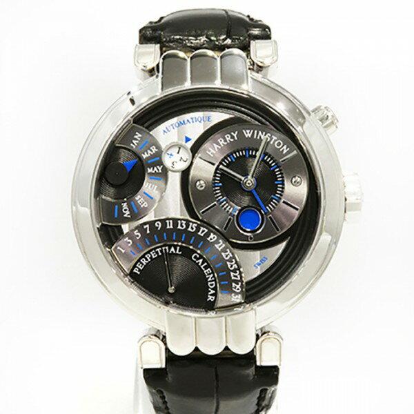 ハリー・ウィンストン HARRY WINSTON プルミエール パーペチュアルカレンダー PREAPC41WW014 シルバー文字盤 メンズ 腕時計 【中古】
