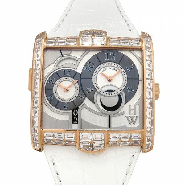ハリー・ウィンストン HARRY WINSTON アヴェニュースクエアード AVSATZ45RR001 シルバー文字盤 メンズ 腕時計 【未使用品】