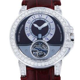 ハリー・ウィンストン HARRY WINSTON オーシャン トゥールビヨン 世界10本限定 400/MAT44W グレー/シルバー文字盤 中古 腕時計 メンズ