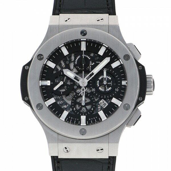 ウブロ HUBLOT ビッグバン アエロバン スティール 311.SX.1170.GR ブラック/スケルトン文字盤 メンズ 腕時計 【中古】
