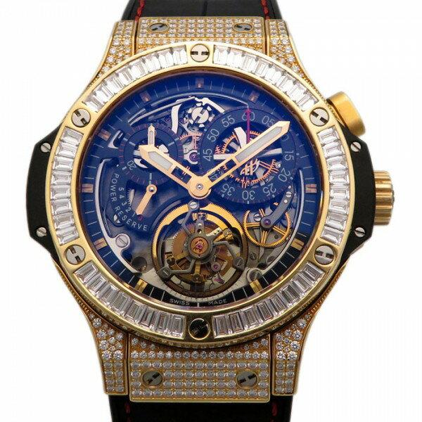 ウブロ HUBLOT ビッグバントゥールビヨン 308.PX.130.RX.094 スケルトン文字盤 メンズ 腕時計 【中古】